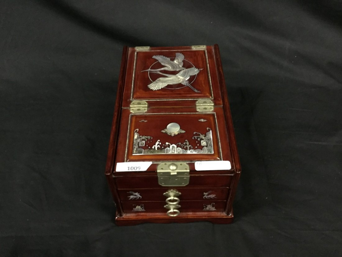 Asian mother pearl inlay jewelry box