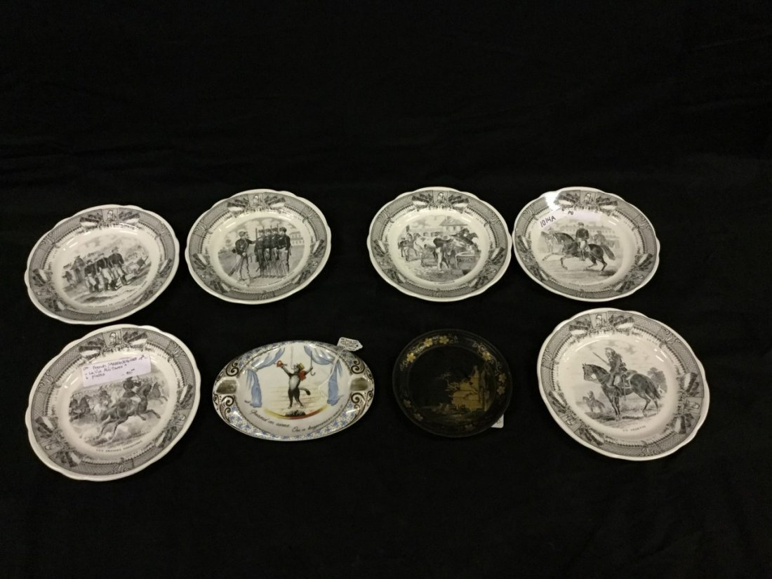 French Sarreguemines and Limoges dish