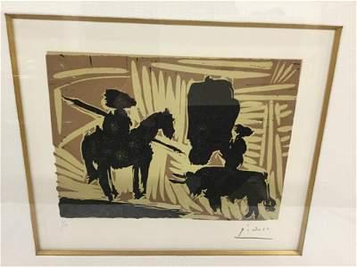 """Pablo Picasso """"AVANTI LA PIQUE"""" (Before the Lance) 1960"""