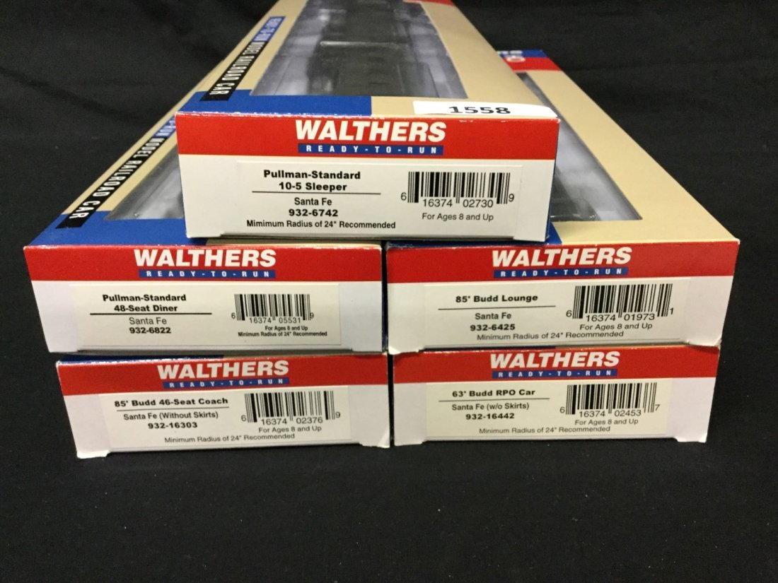 Five Walther Ho scale cars - 2