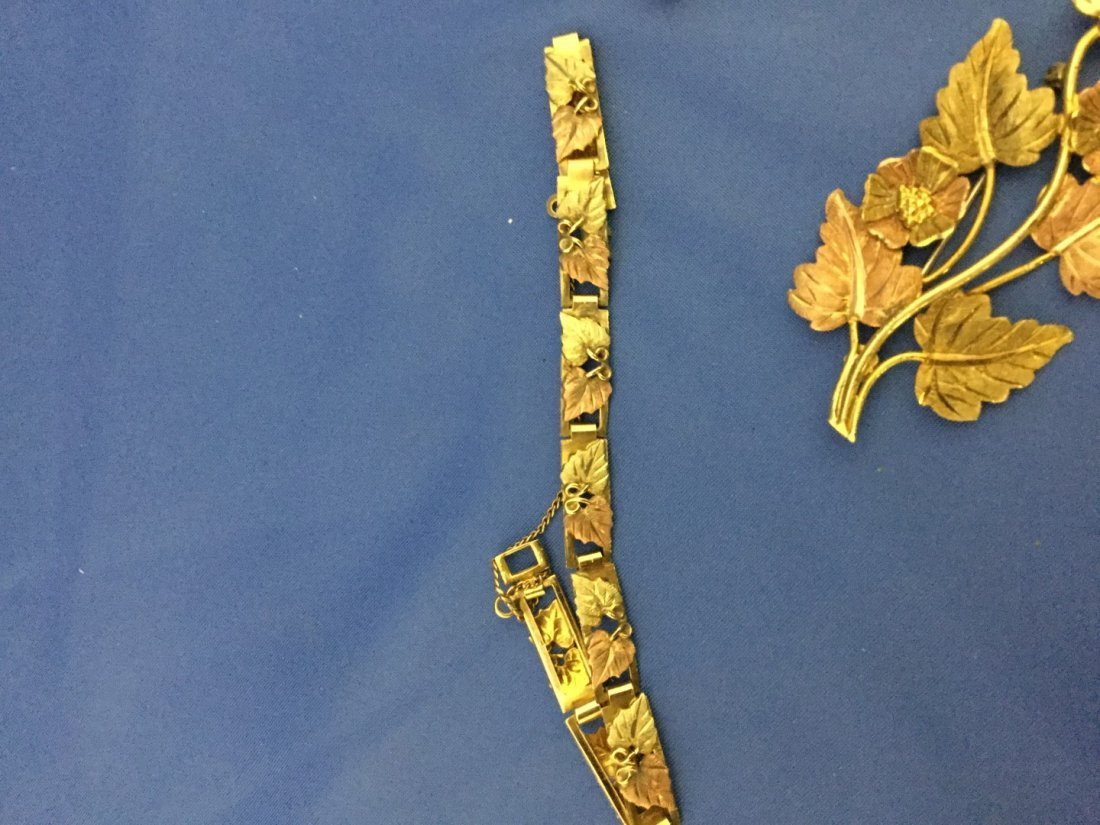Black hills gold jewelry-pin12k ring 10k bracelet and - 2
