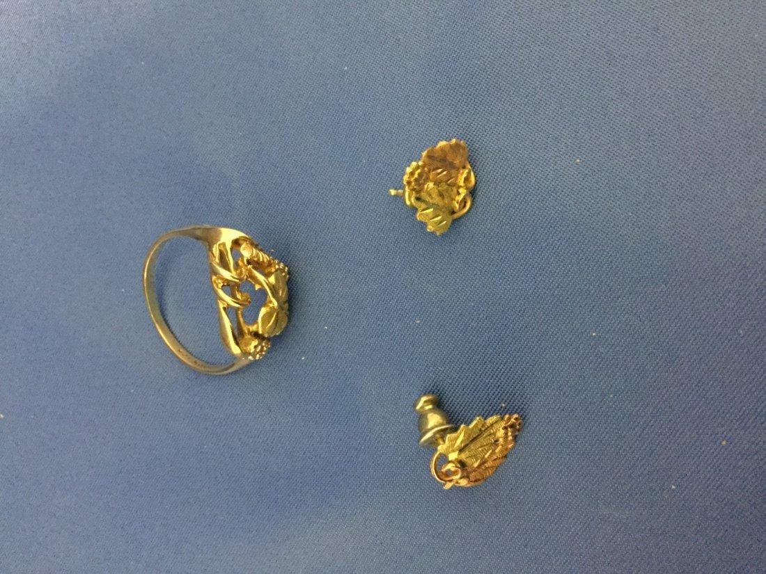 Black hills gold jewelry-pin12k ring 10k bracelet and - 3