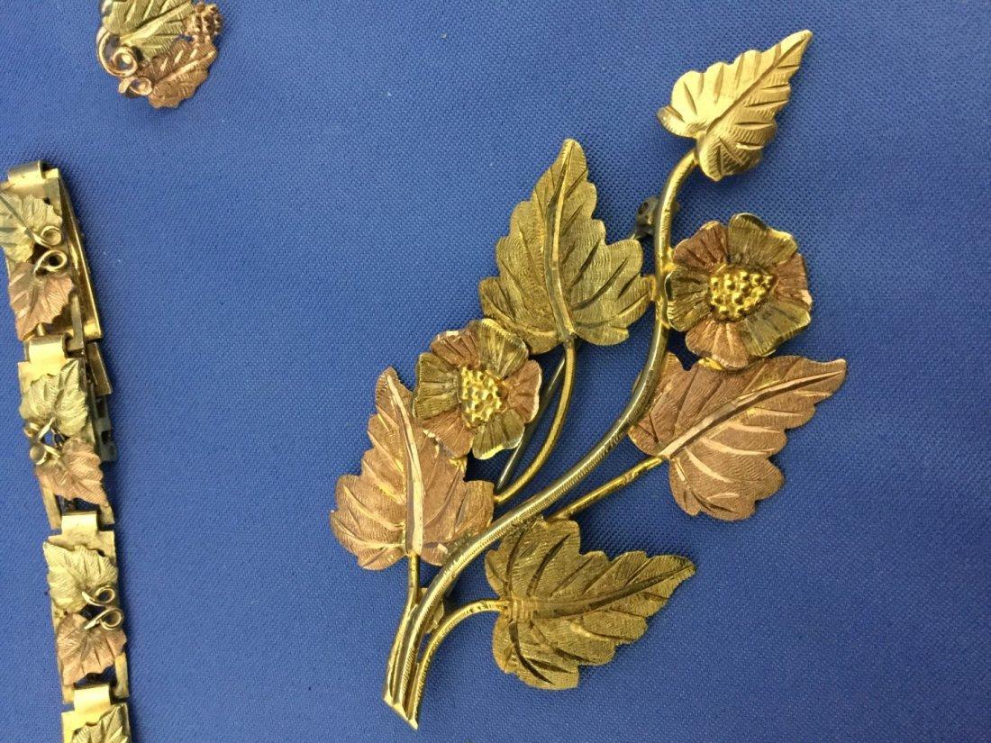 Black hills gold jewelry-pin12k ring 10k bracelet and - 4