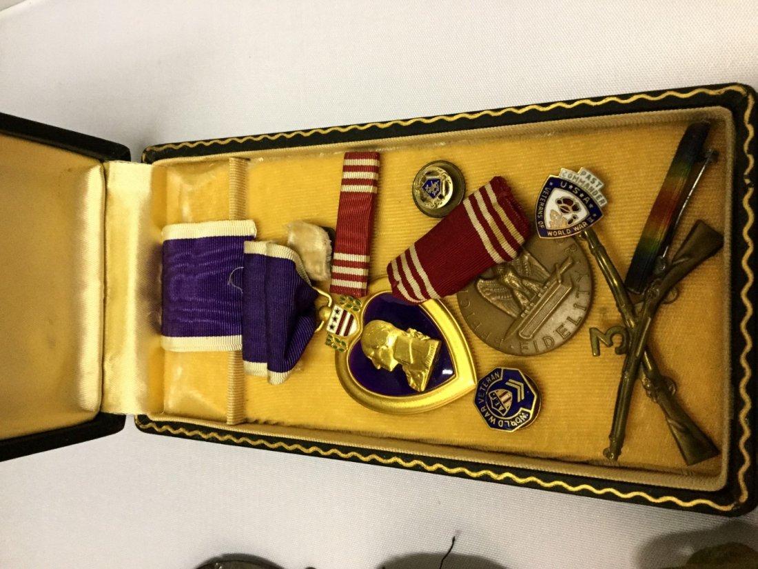 WWII memorabilia a silver star, purple heart, conduct - 2