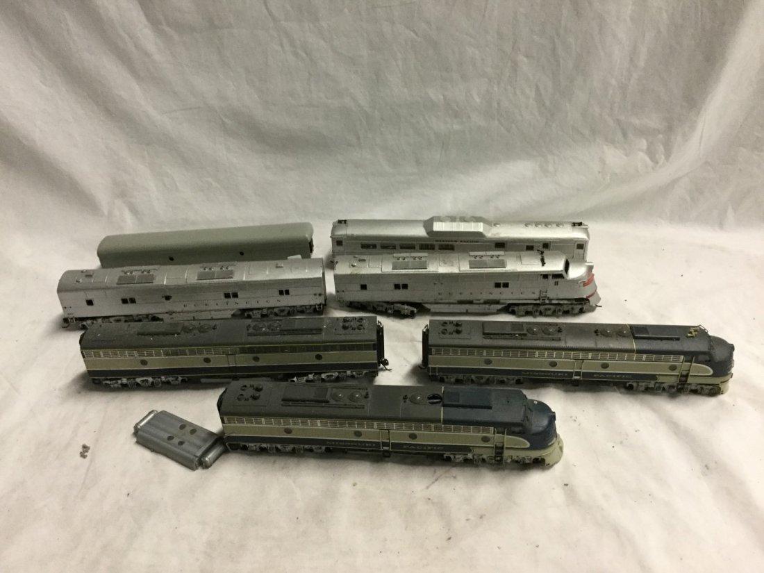 7 model trains