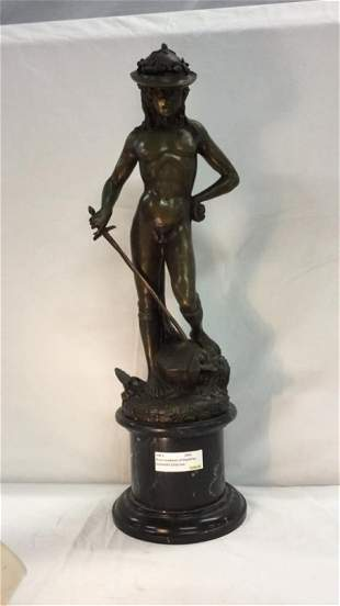 Brass sculpture of David by Donatello