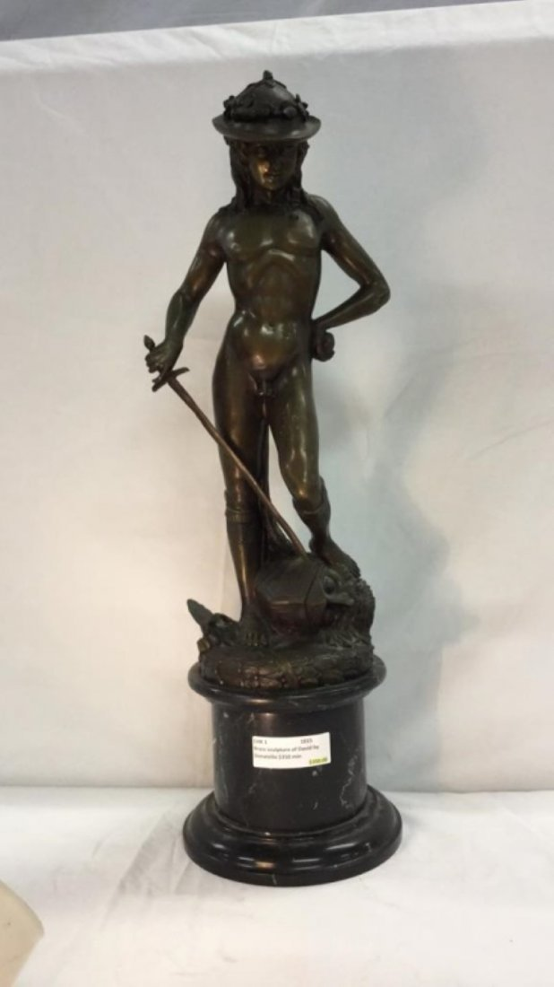Brass sculpture of David by Donatello