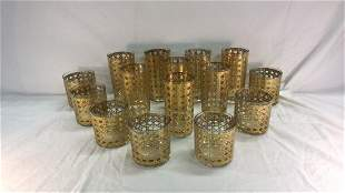 Gold liquor glassware set