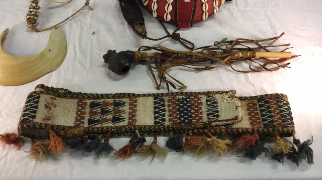 African head dress with pipe and misc. - 5