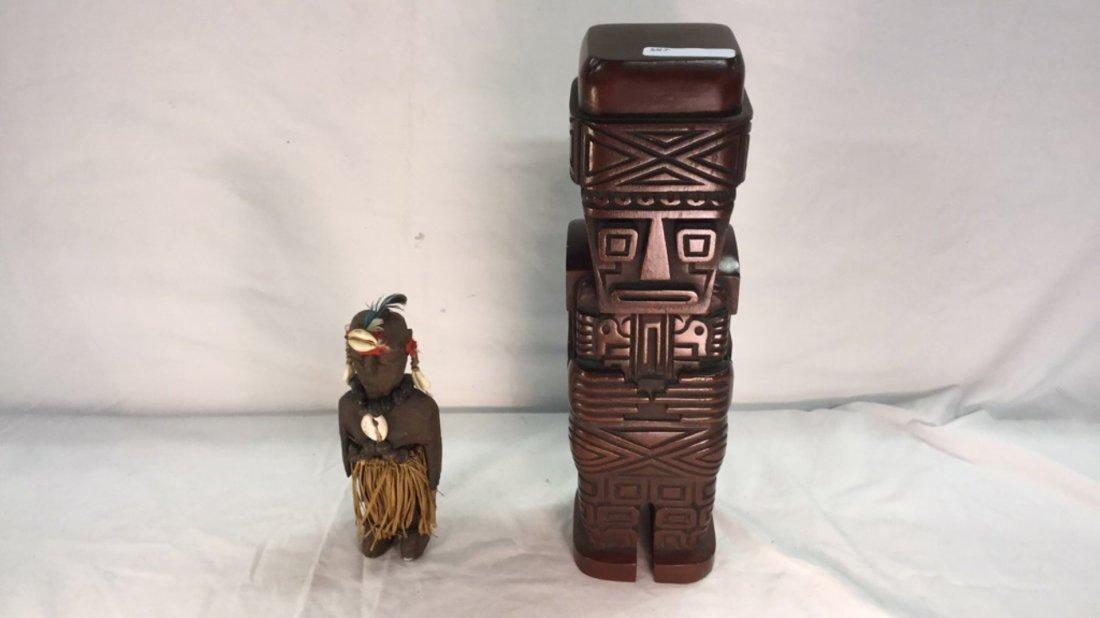 Two wooden Idols