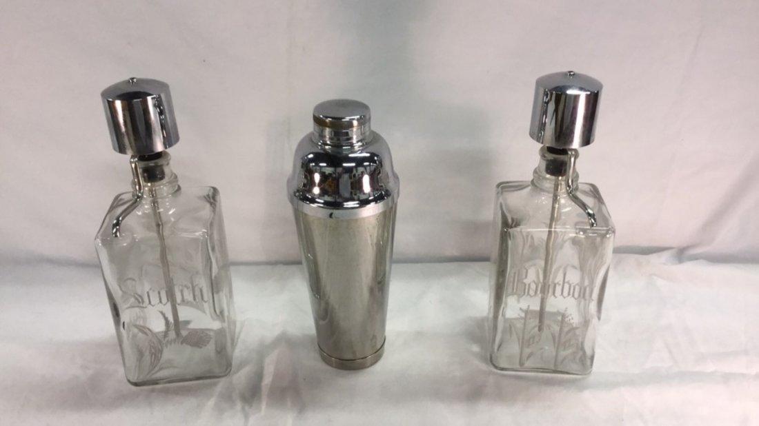 Scotch/Bourbon dispensers and shaker