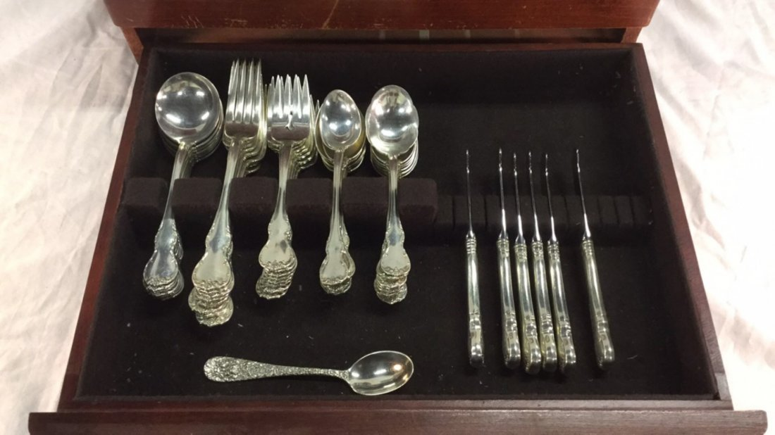 Set of Towle sterling silverware and silver cups - 2
