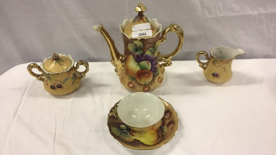 Set of Lefton chocolate Tea set