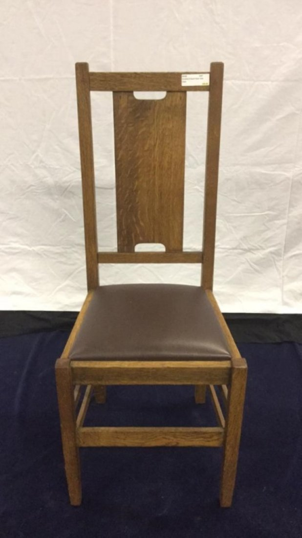 Stickley H back style side chair