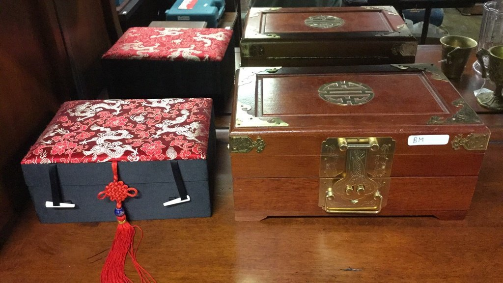 Two Asian jewelry boxes