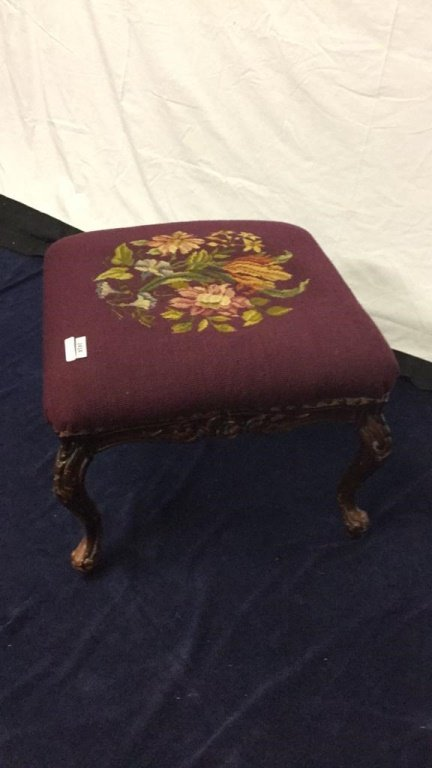 Needlepoint footstool - 2