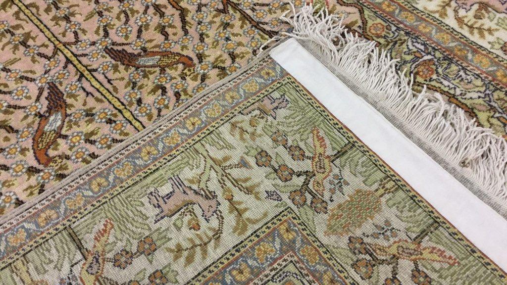 """Hand loomed yellow rug 89""""x58"""" - 2"""