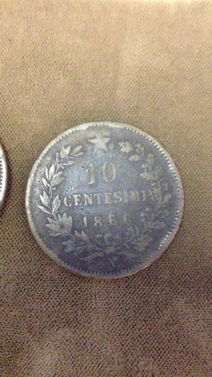 10 Centesimi Italian coins 1860's - 1890's - 2