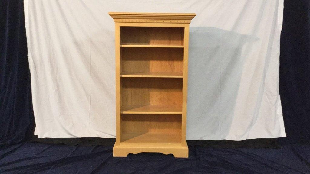 Blonde bookcase