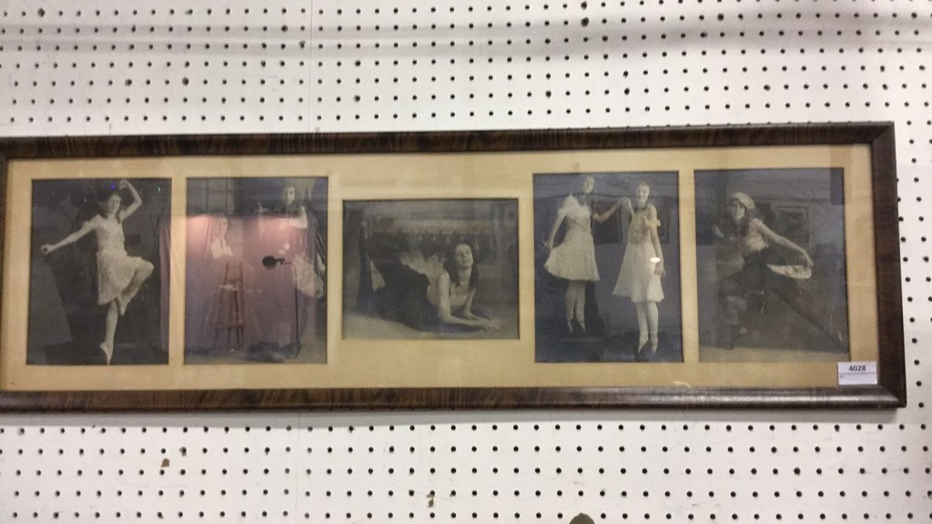 Vintage framed photographs of women