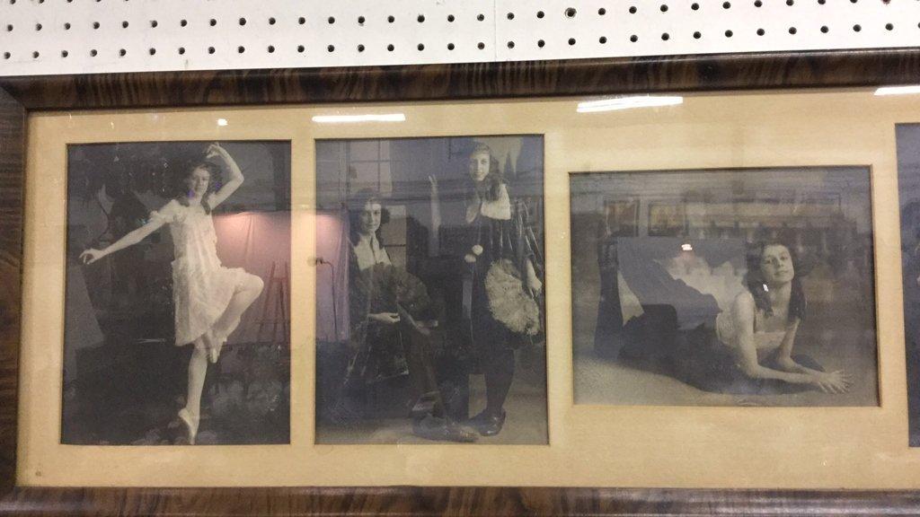 Vintage framed photographs of women - 2