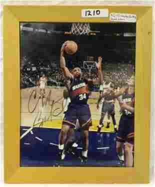 Charles Barkley signed picture