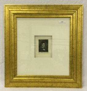 Rembrandt etching: The artistÕs mother with her ha