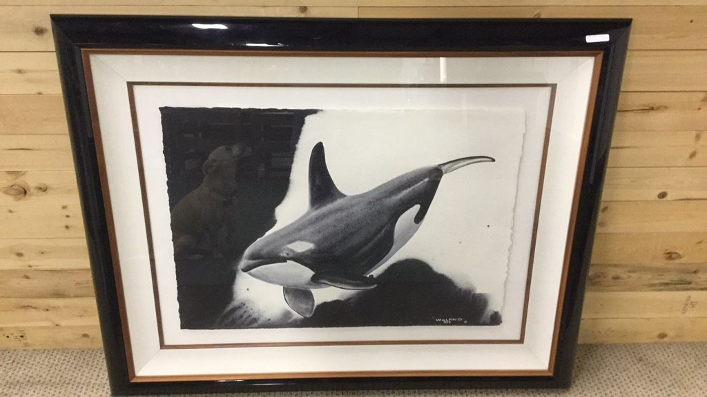 """Orca Time"" by Wyland original"