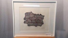 Original Sydney Biddle abstract