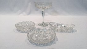 Crystal dishes and compote