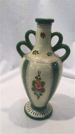 Assorted painted ceramic serving pieces