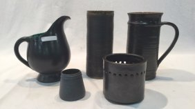 Assorted Glazed Earthenware Pottery Pieces