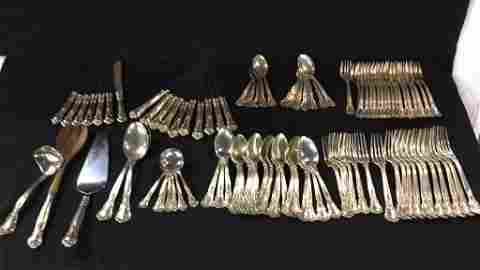 Large Gorham Sterling Silver silverware set