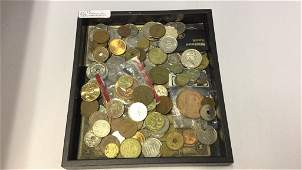 A lot of miscellaneous foreign coins and currency