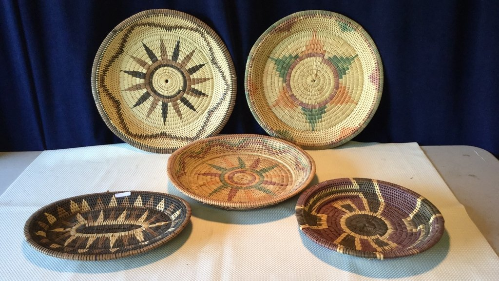 Woven reed trays