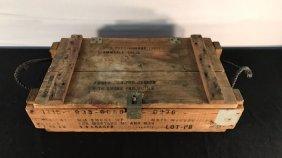 Smoke mortar round wood case