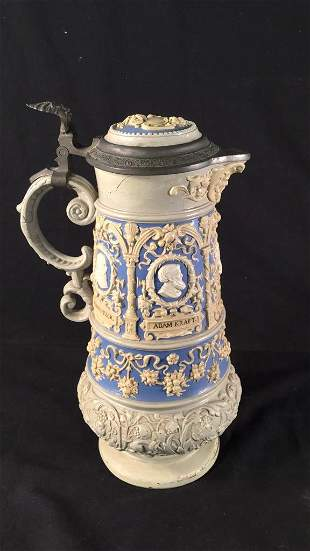 Large Antique German Stein
