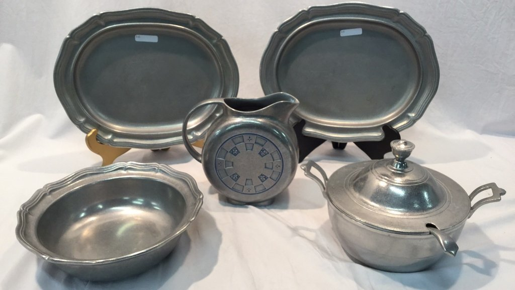 Wilton Armetale Pewter Serving Pieces.