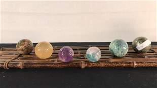 Six geode Spheres