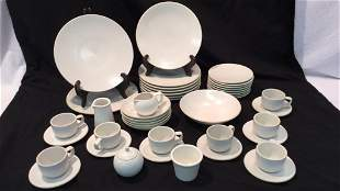 Sasaki Stoneware Colorstone Matte White Dishes
