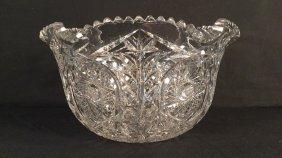 Monumental Deep Cut Crystal Bowl