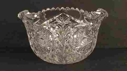 Monumental Deep Cut Crystal Bowl