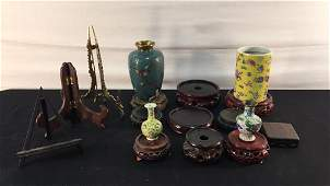 Lot of Asian Collectibles and Stands