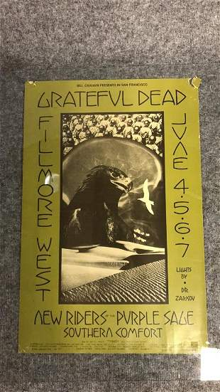 1970 Fillmore West Grateful Dead Poster