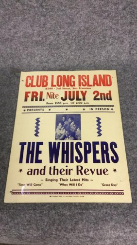 """""""The Whispers"""" Club Long Island Poster"""