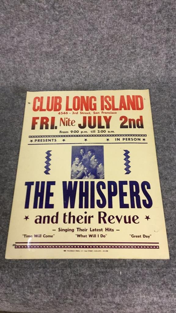"""The Whispers"" Club Long Island Poster"