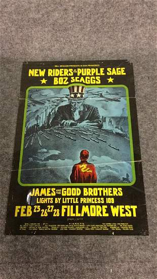 1971 Fillmore New Riders of The Purple Sage Poster