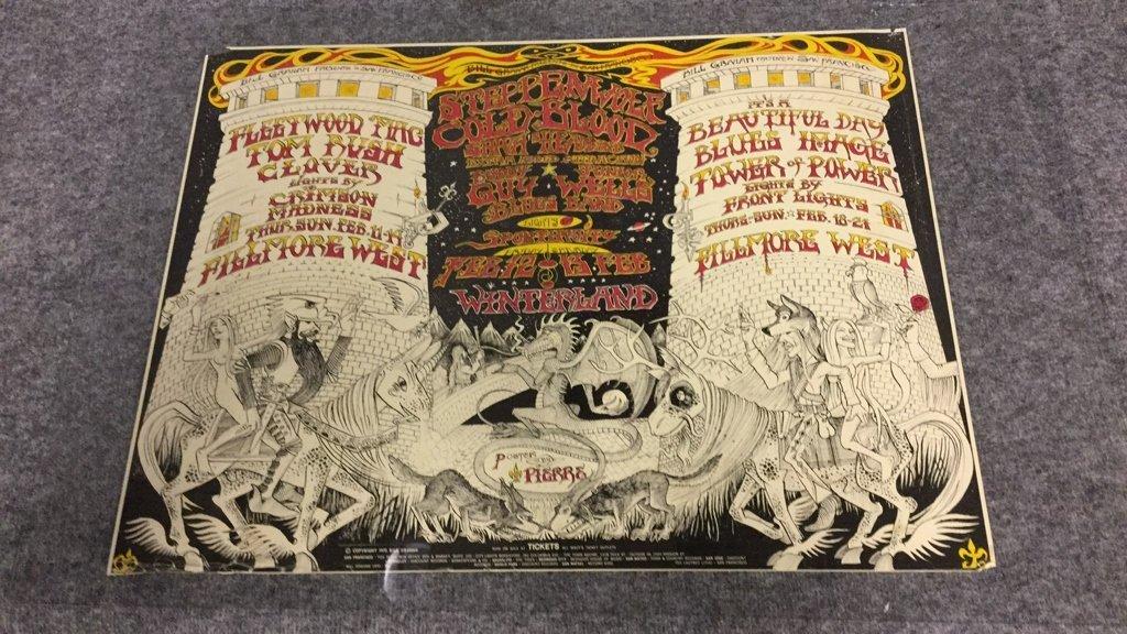1970 Fillmore West Winterland Rock Poster