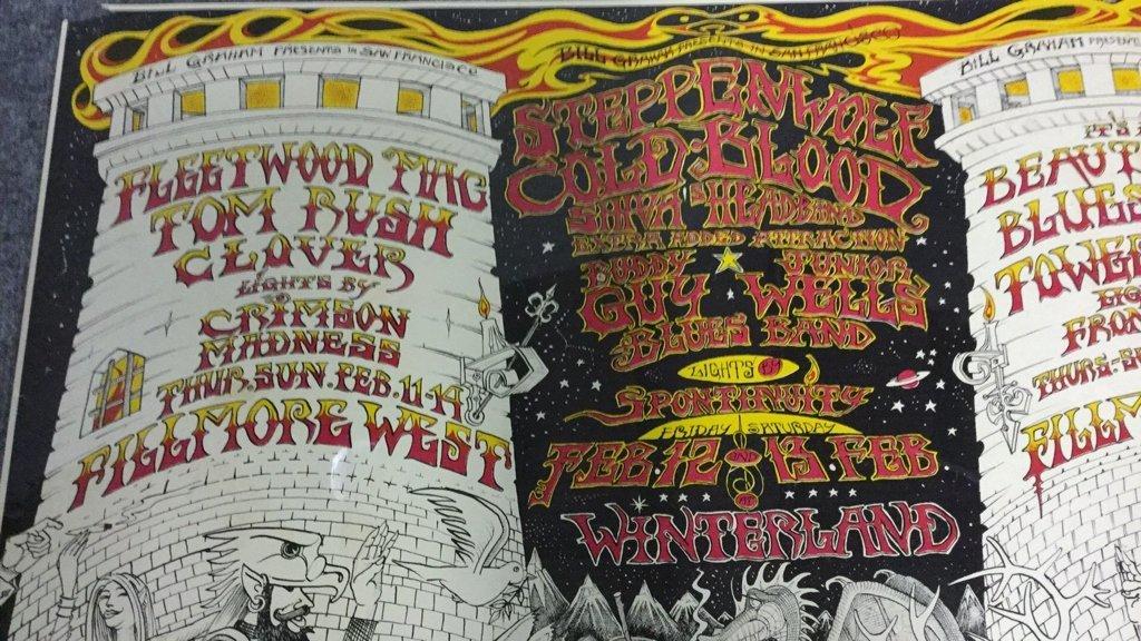 1970 Fillmore West Winterland Rock Poster - 2