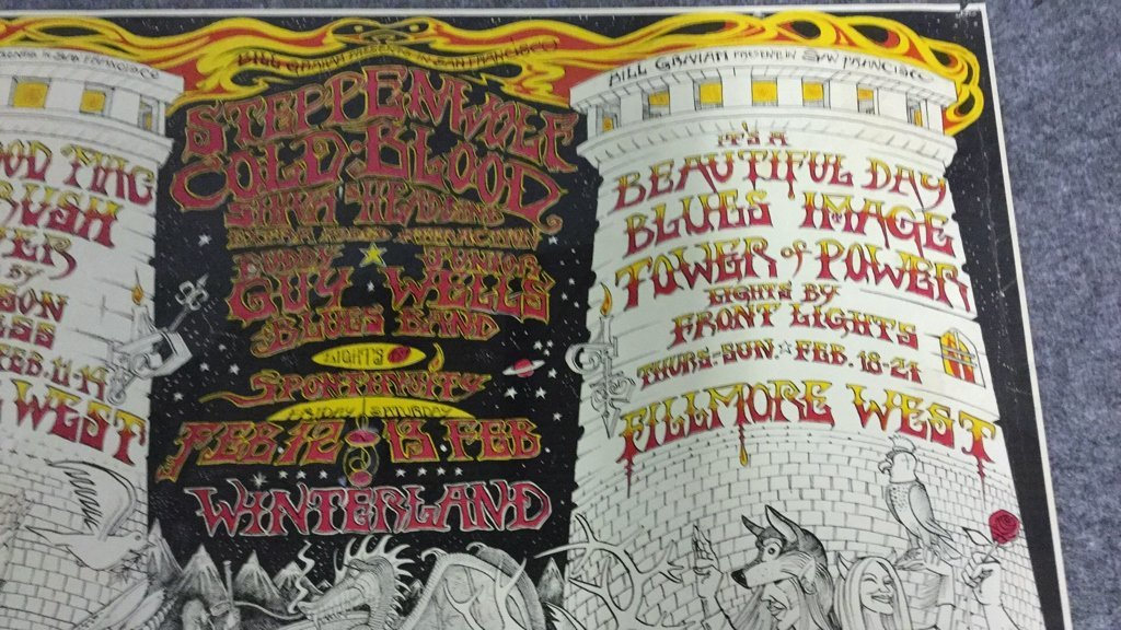 1970 Fillmore West Winterland Rock Poster - 3
